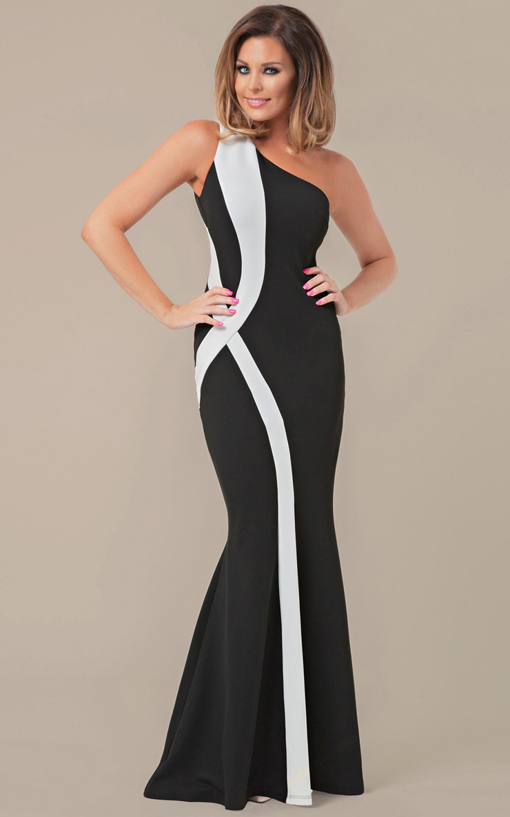 Lace Evening Gowns ; Black and White dresses; Black Tie dresses; Evening Dresses & Gowns; Dark Green One Shoulder Fitted Scuba Evening Dress - Long evening dresses for women are an essential component to any closet. With many opportunities to wear them, they are an investment for future events.