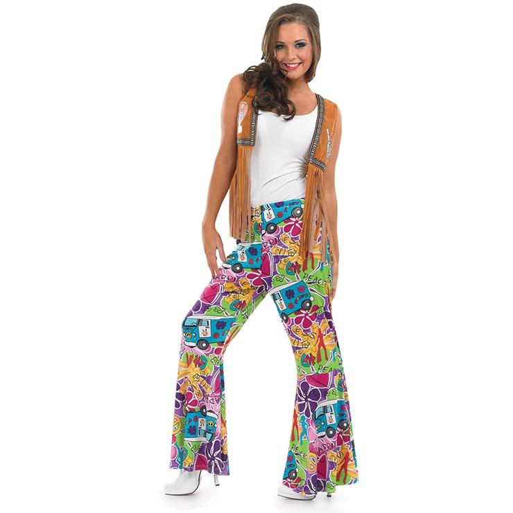 Women's 60's Retro Hippie Costume N14753
