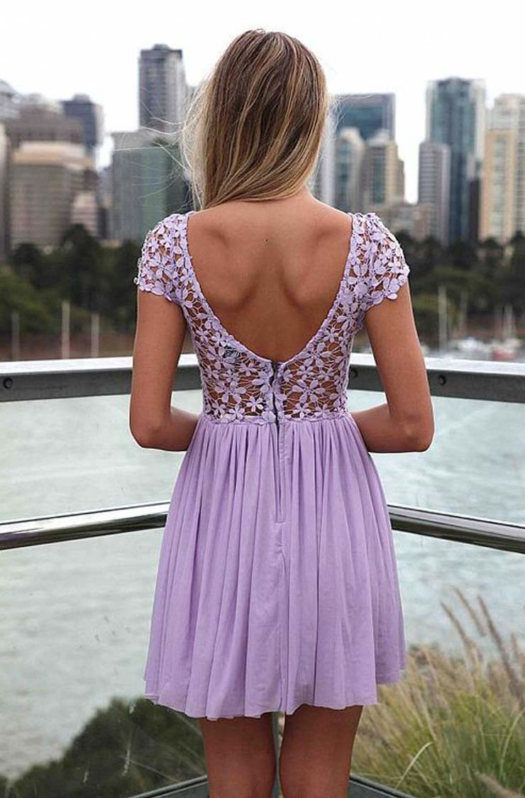 Lady Purple Lace Dress N9326