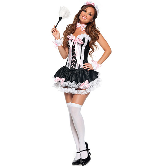 Sexy French Maid Costume, Naughty French Maid Costume, French Maid Outfit, #M2875