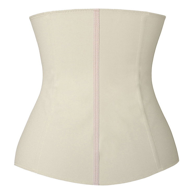 Latex Underbust Corset, Elastic Body Shaper Bustier, High Quality Beige Steel Bone Underbust Corset, #N14666