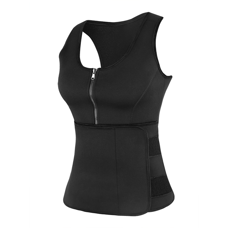 latex black waist training vest corset with girdles n12315