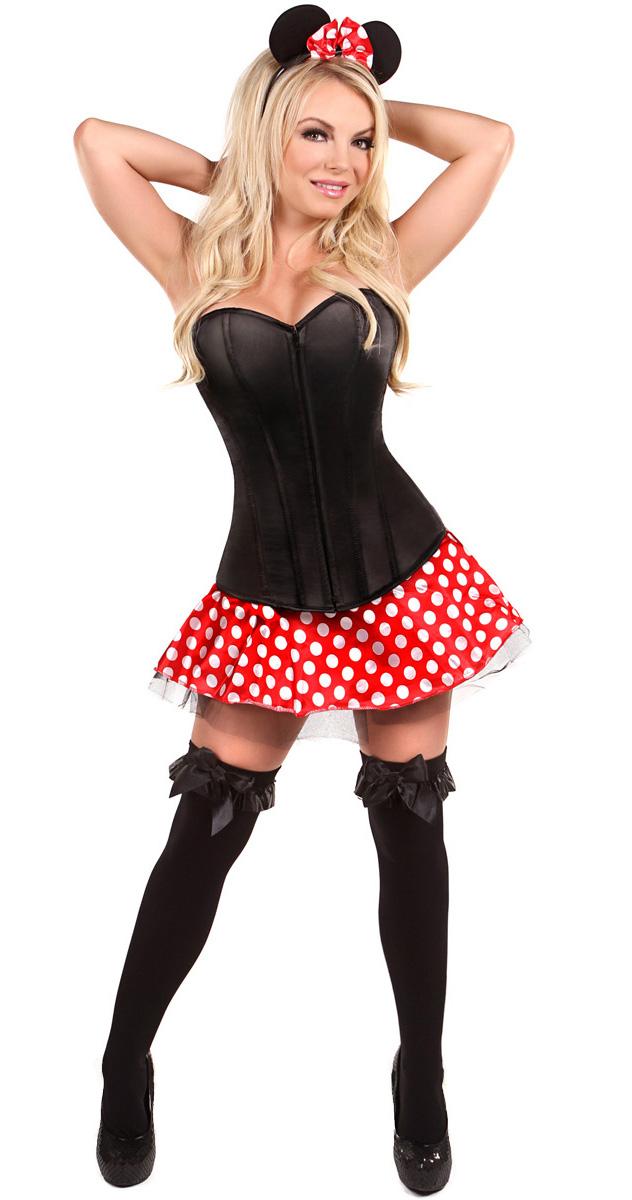 Minnie Mouse Costume for Women Cartoon Character Costume Animal Costume Plus Size Costume  sc 1 st  MallTop1.com & Lavish Flirty Mouse Costume N11103