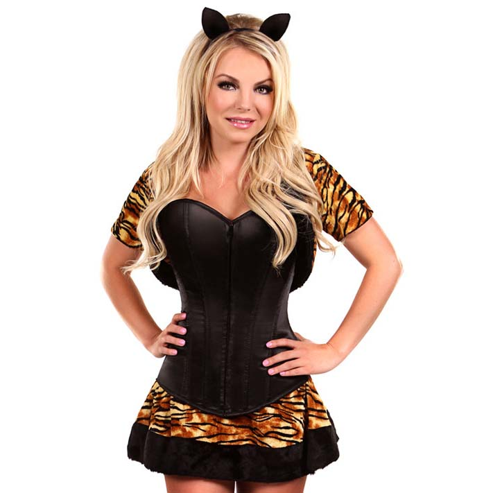 Tiger Costume for Women, Cartoon Character Costume, Animal Costume, Plus Size Costume, Halloween Costume for Women, #N11105