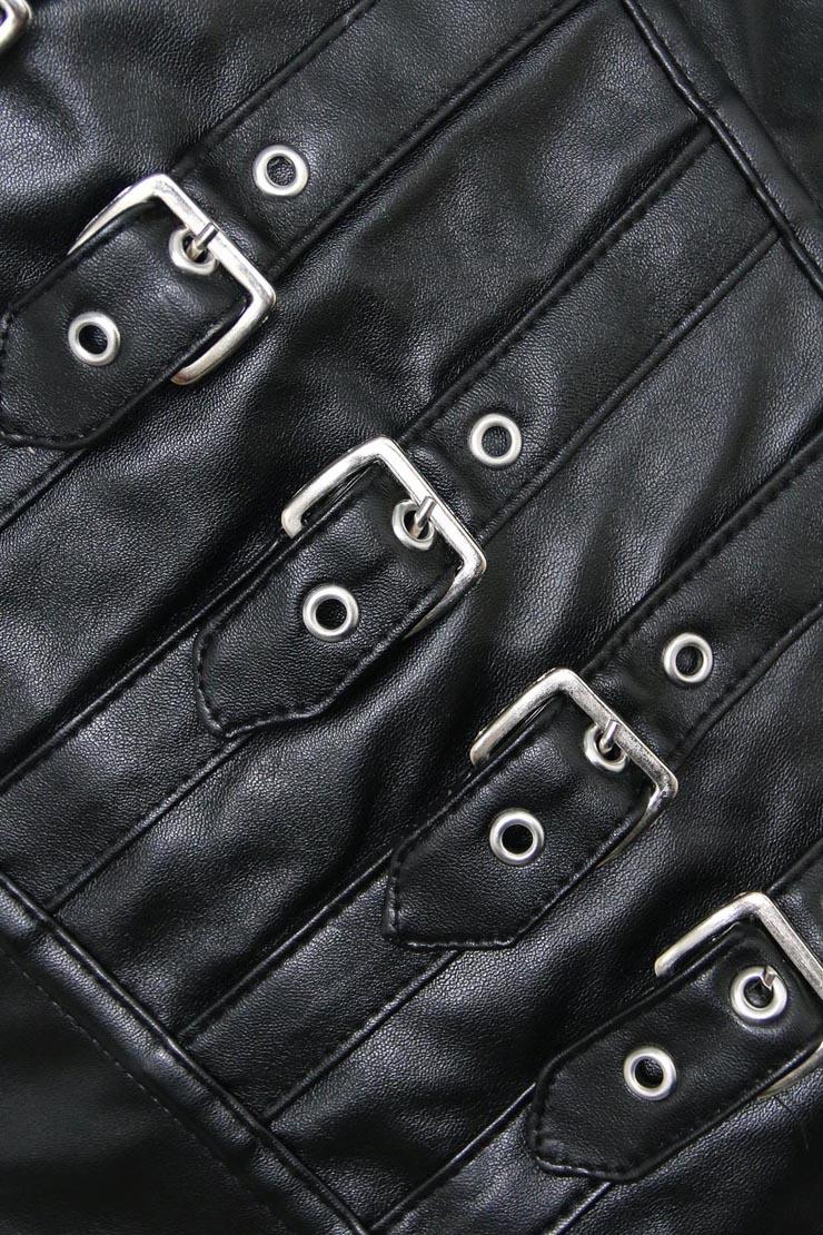 Leather Buckle Corset, Leather Underbust Corset, Leather Buckle Underbust Corset, #N5117