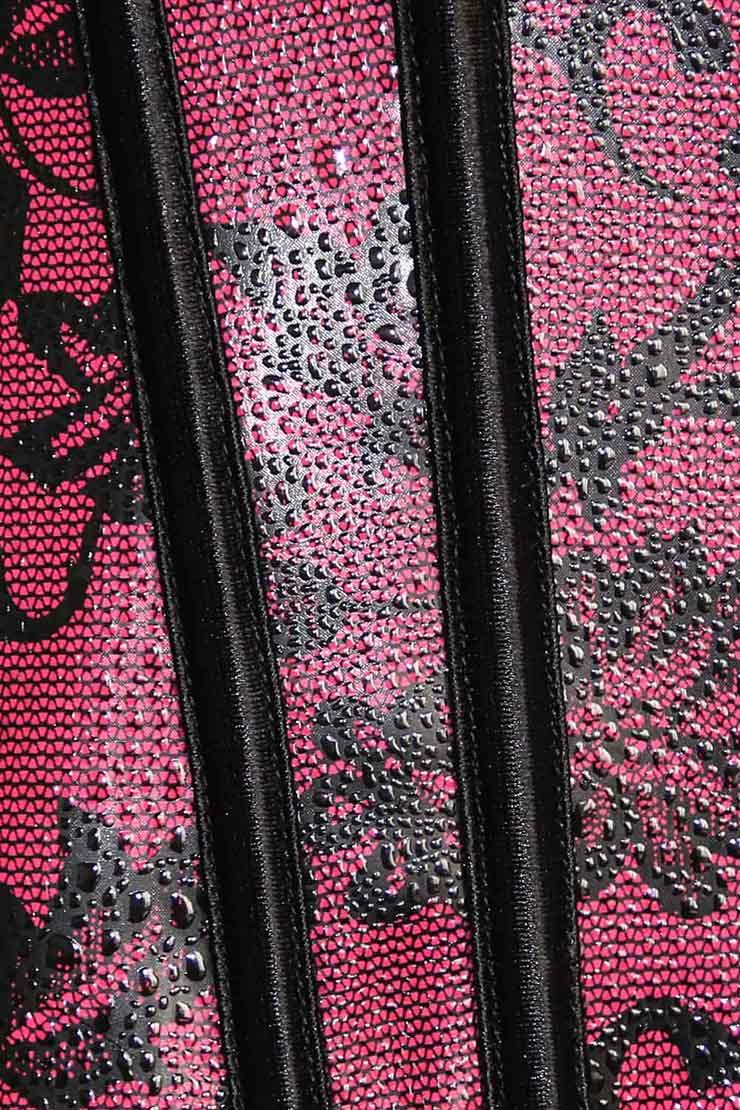 Leather Floral Fantasies Corset, Floral Fantasies Corset, Leather Corset, #N2224