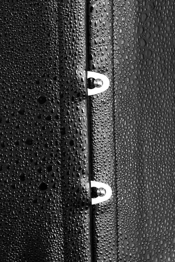Underbust corset, black Underbust corset, Leather Underbust Corset, #N2153
