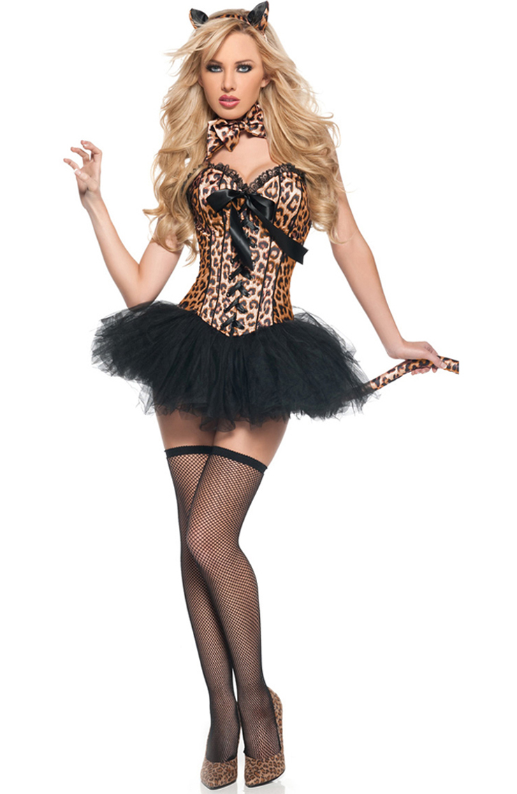Leopard Deluxe Costume, Sexy Leopard Costume, Sexy Adult Leopard Costume, Leopard Halloween Costume, #N4828