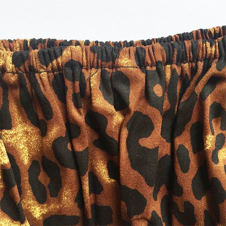 Fashion Leopard Printed Shirt, Casual Short Sleeve Tops, Leopard Printed Slim Fit T-shirt, Women