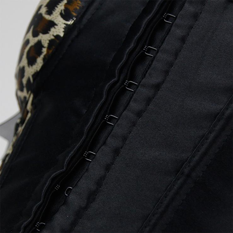 Sexy Leopard Corset, Sexy Strappy Leopard Overbust Corset, Sexy Leopard Wiast Cincher, Sequins Overbust Corset, Leopard Body Shaper, #N18264