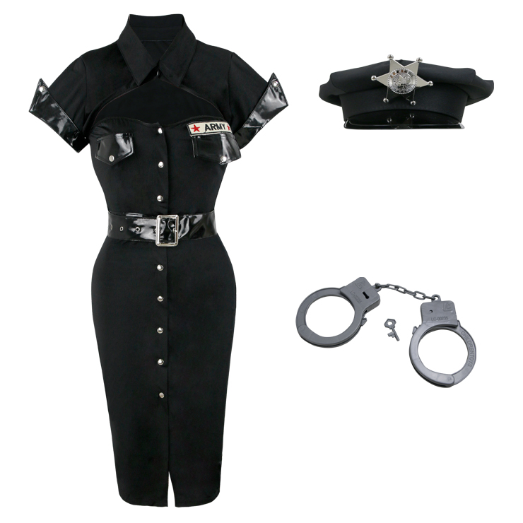 Sexy Dirty Cop Costume, Police Officer Costume, Police Costume, #P4864
