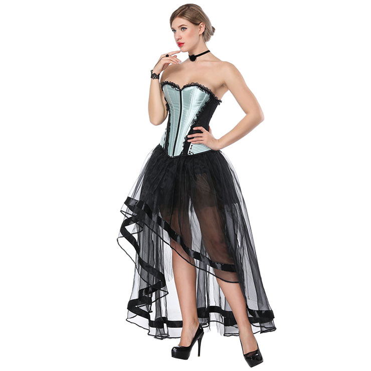 Satin Corset and Organza Skirt Set, Women