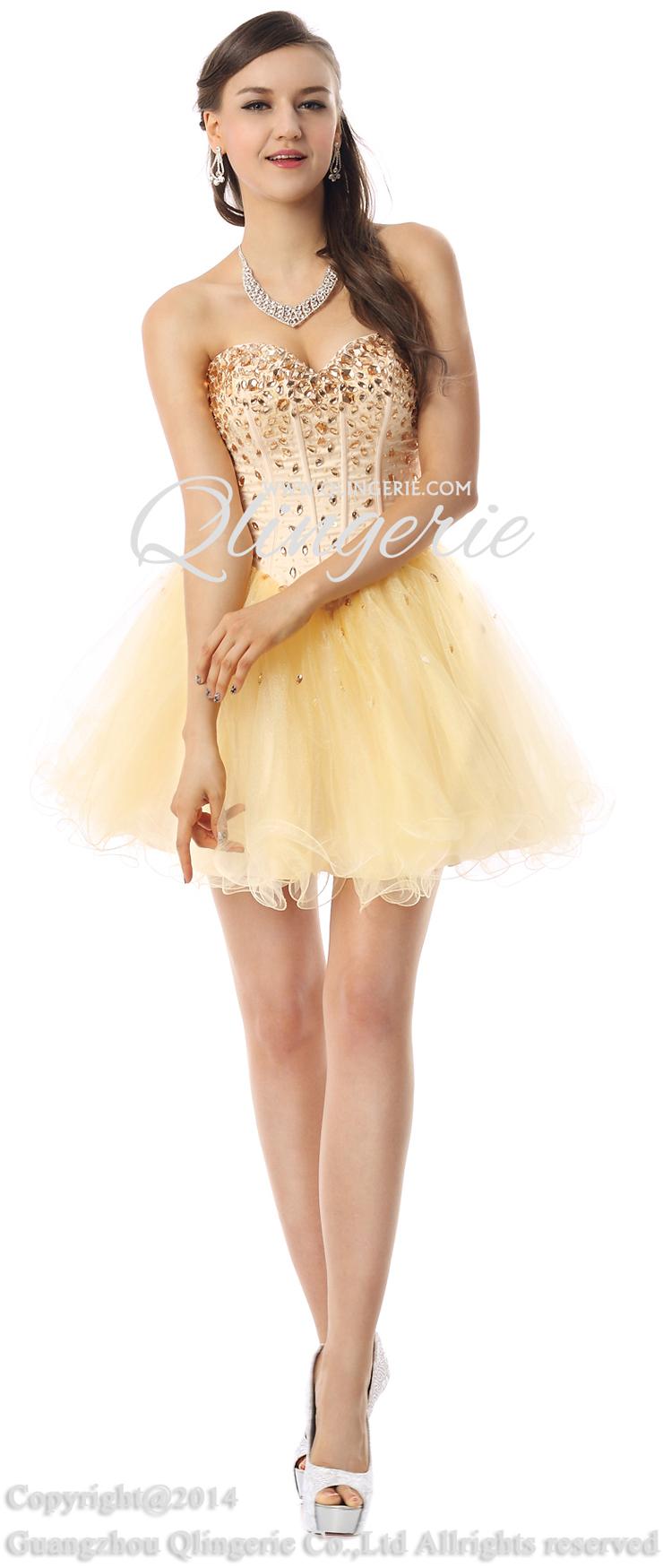 2014 Yellow Prom Dresses