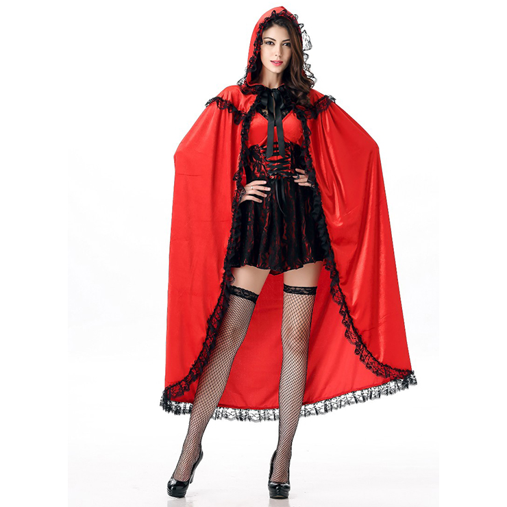 Little Red Costume, Sexy Red Riding Hood Costume, Little Red Riding Hood Costume, #N12006