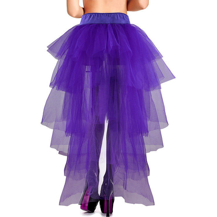 Long Mesh Bustle Skirt with Satin Bow Accents, Long Mesh Petticoat, Bustle Petticoat, #HG12389