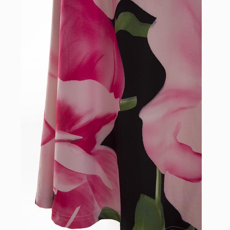 49ef99ab799 Women s Long Sleeve Off Shoulder Floral Print Plus Size Maxi Dress ...
