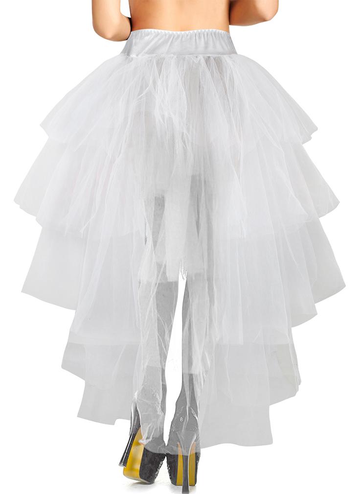 Lange witte tule rok