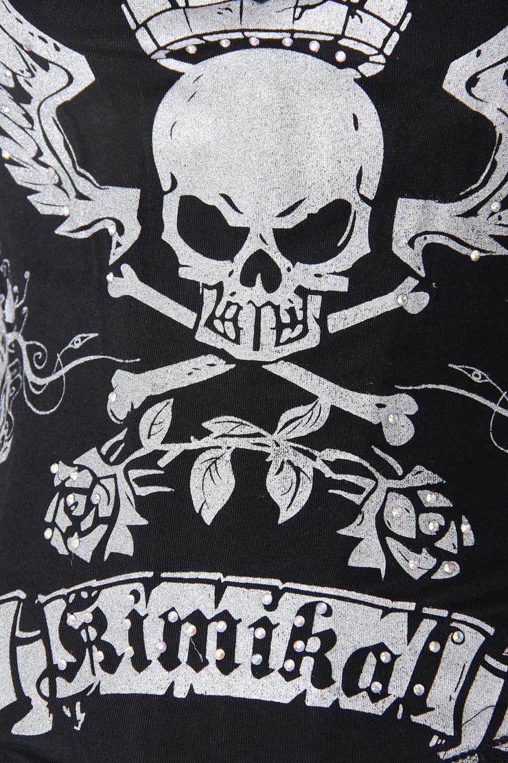 Magic Printed Rhinestone Corset, Lord Skull Printed Corset, Printed Corset, #N4241