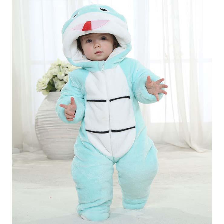 Lovely Blue Snake Shape Baby Romper Costume N9796