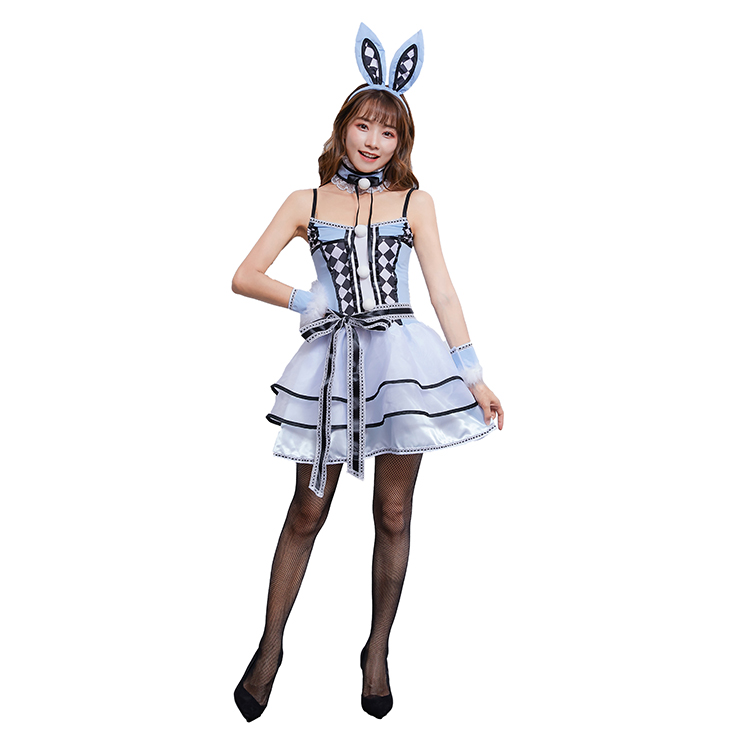 5pcs Lovely Women's Bunny Girl Sling Skirt Halloween Rabbit Masquerade Costume N19476