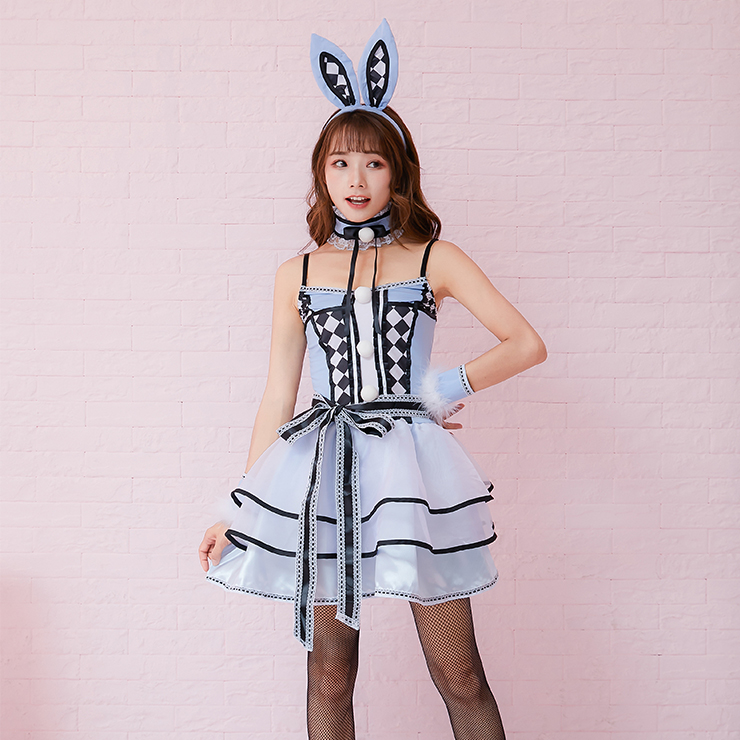 Sexy Bunny Girl Costume, Sexy Rabbit Costume, Cosplay Game Costumes, Adult Animals Braces Costume, Adult Rabbit Halloween Costume, #N19476