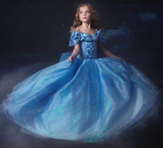 Fairy Cinderella Costume, New Cinderella Kid Princess Dress, 2015 Cinderella Disney Costume, Girl