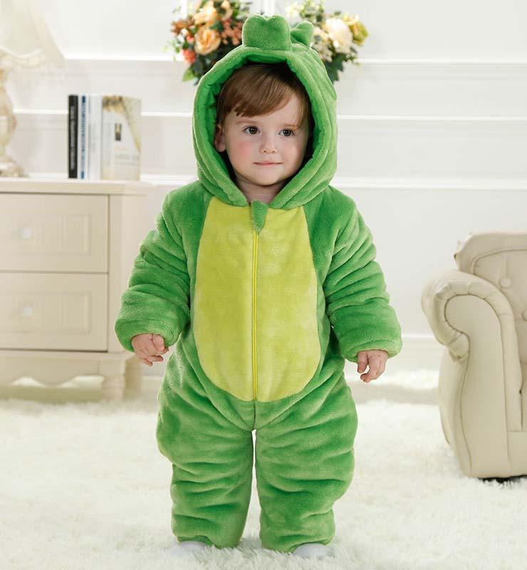 Lovely Green Dinosaur Shape Baby Romper Costume N9797
