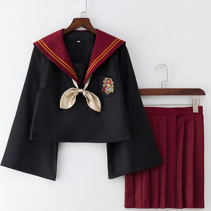 Lovely Popular Black-red  HP the Lion Academy JK Uniform Girl's 2-D world Daily Wear N18897