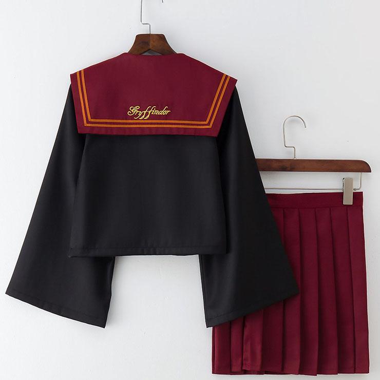 School Girl Costume, HP JK Uniform Costume, Schoolgirl Costume, School Girl Adult Costume, Japan School Uniform Cosplay Costume, the Lion Academy JK Uniform, #N18897