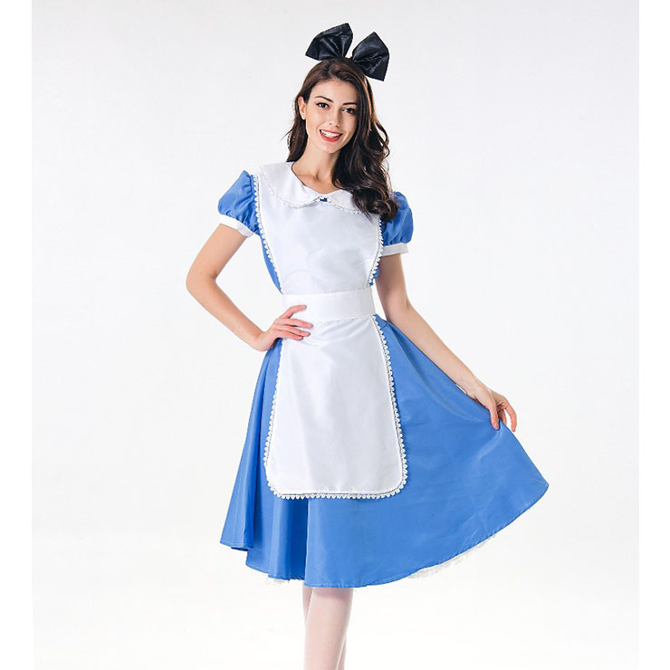 Traditional House Maid Costume, French Maide Costume, 3 Piece Maiden Cosplay Costume, Black and White Maid Costume, Halloween Maid Cosplay Adult Costume, #N17994