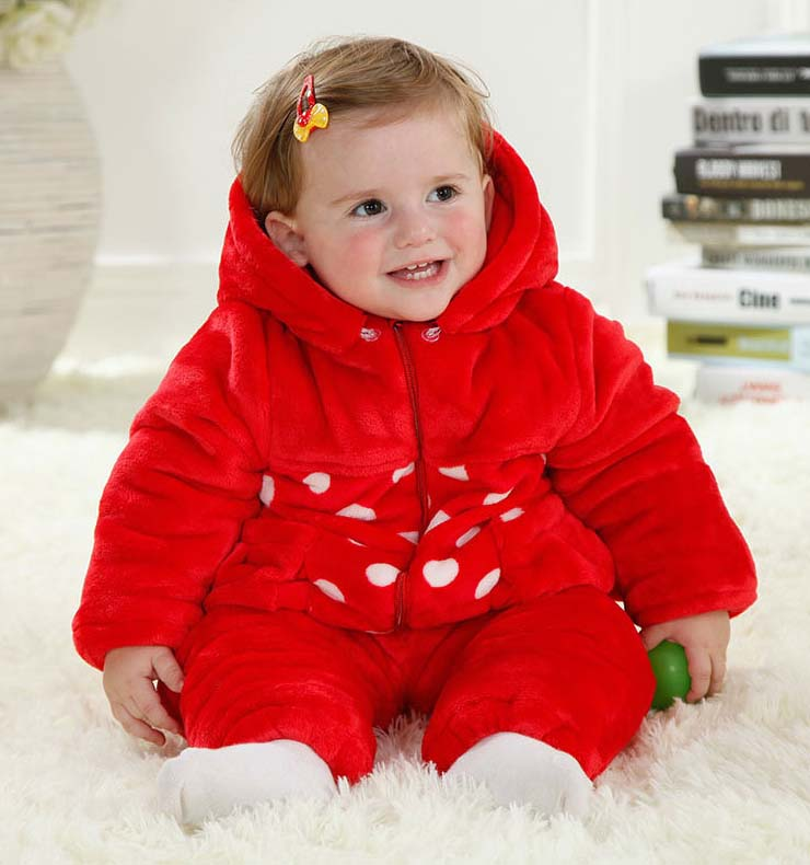 Red Baby Outfit, Comfortable Flannel Baby Costume, Cheap Red Crab Shape Baby Climbing Clothes,  #N9789