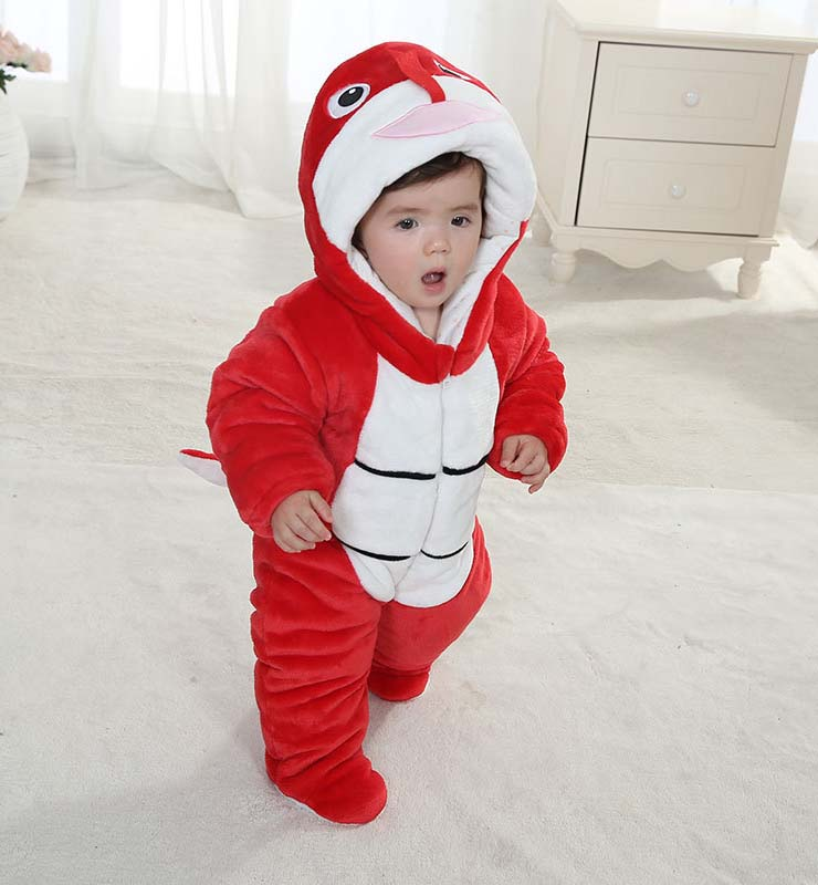 Red And White Baby Outfit, Comfortable Flannel Cotton Baby Costume, Cheap Snake Shape Baby Climbing Clothes,  #N9795