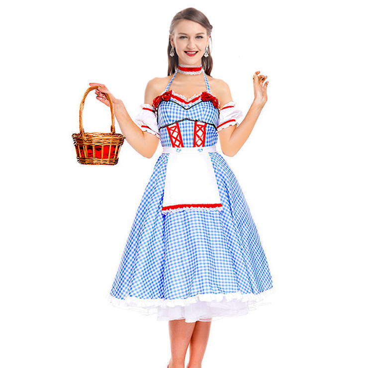 Maid Costume Role Playing Cute Country Girl Haltter Oktoberfest Costumes N18244