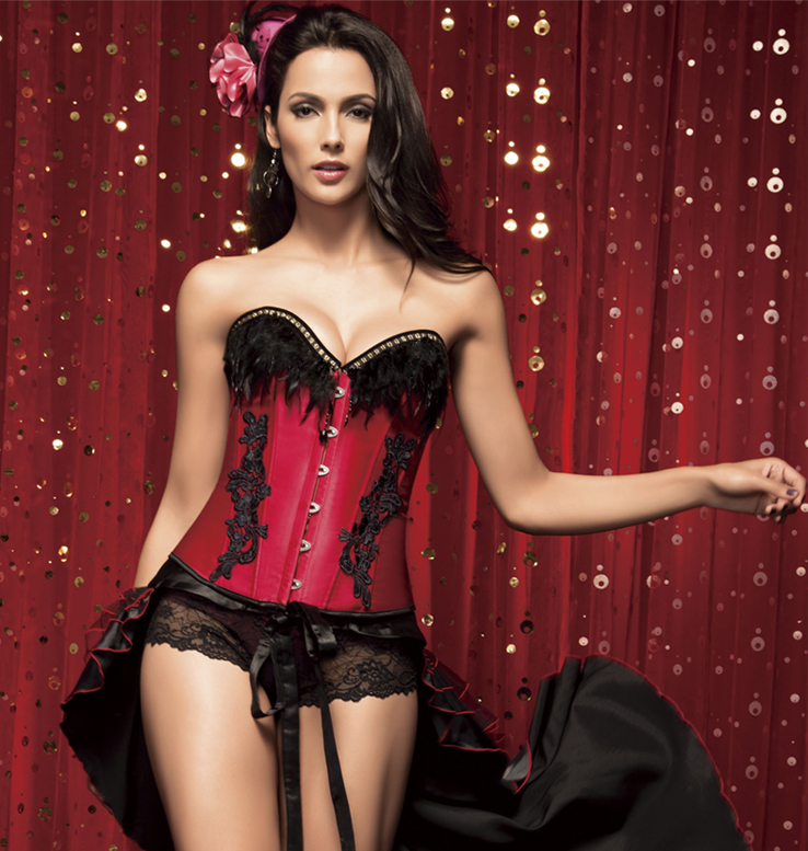Corset with Feathers N2209