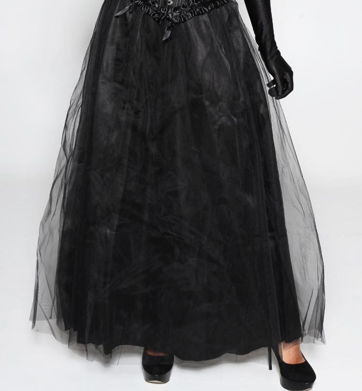 Maxi Long Black Tulle Skirt HG7979