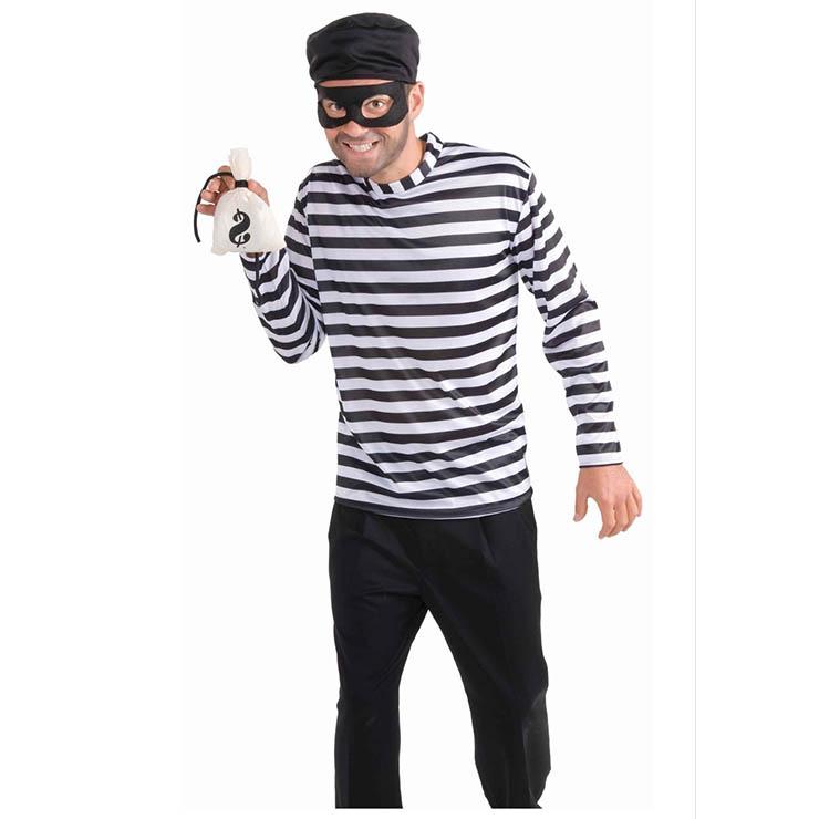 Men's Bank Robbin Bandit Adult Cosplay Costume N17743