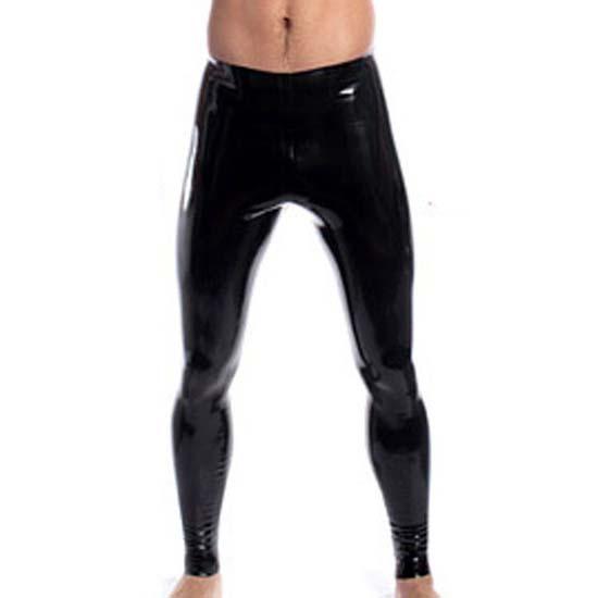 Men's Black PU Leather Leggings N10939