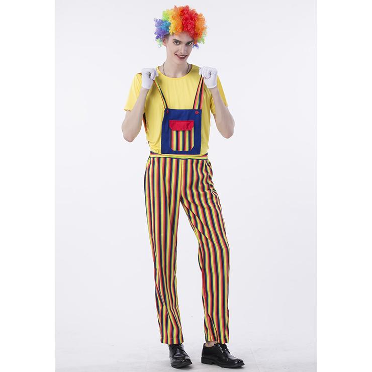 Men's Funny Circus Clown Suits Set Adult Costume N14768