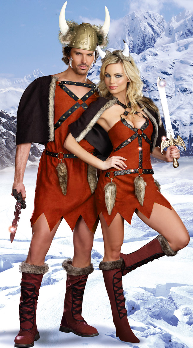 Mens Viking Warrior Costume, Male Viking Costume, Viking Costume, #N5893