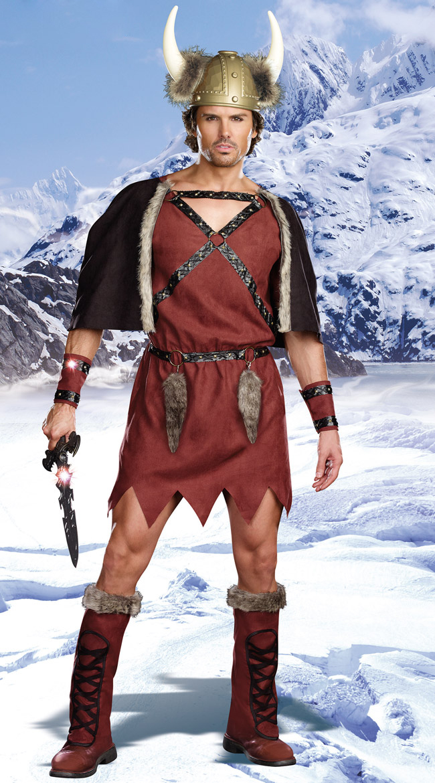 Mens Viking Warrior Costume, Male Viking Costume, Viking Costume, #N5893