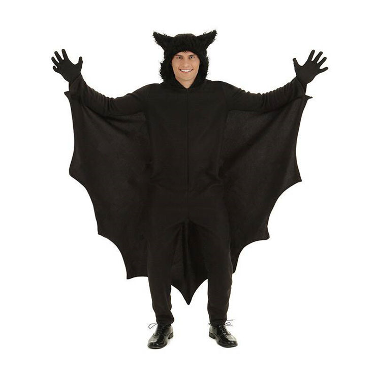 Mens Black Bat Cosplay Adult Halloween Costume N17945