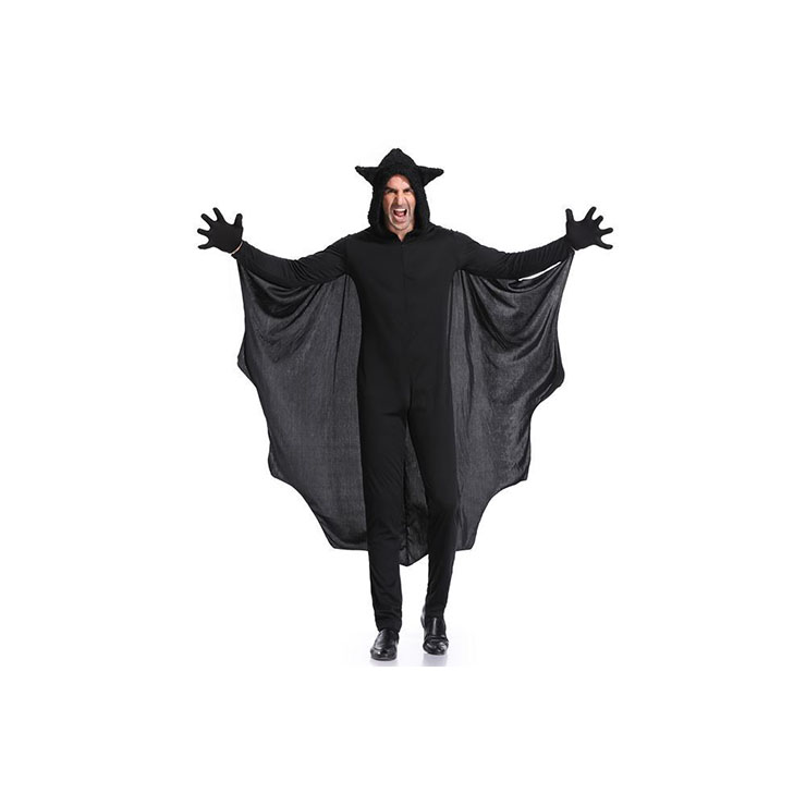 Bat Costume for Mens, Mens Animal Cosplay Costume, Mens Bat Costume, Furry Bat Outfit, Animal Costume, Black Bat Costume, #N17945