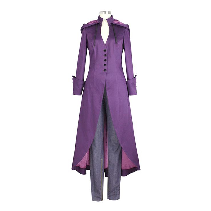 Victorian Gothic Vampire Frock Coat Medieval Renaissance Hoods Lace-up Costume N19983