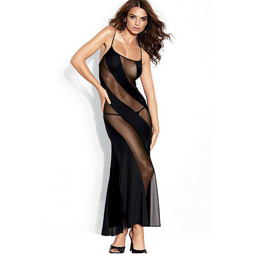 Mesh Gown with Illusion Detail N5628