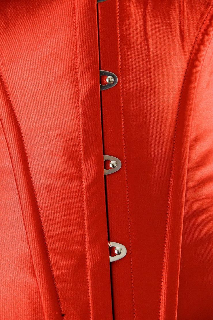 Red Boned Corset, Boned Corset, Metal Boned Corset, #N2927