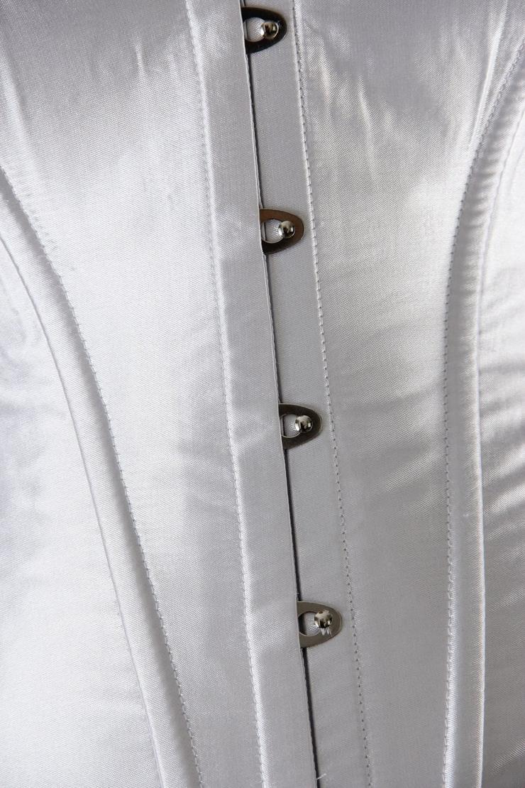 Overbust White Boned Corset, Overbust White Corset, White Corset, #N2945