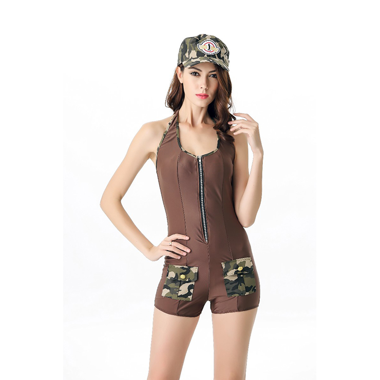 2pc Sexy Soldier Military Uniform Halloween Costume N11686