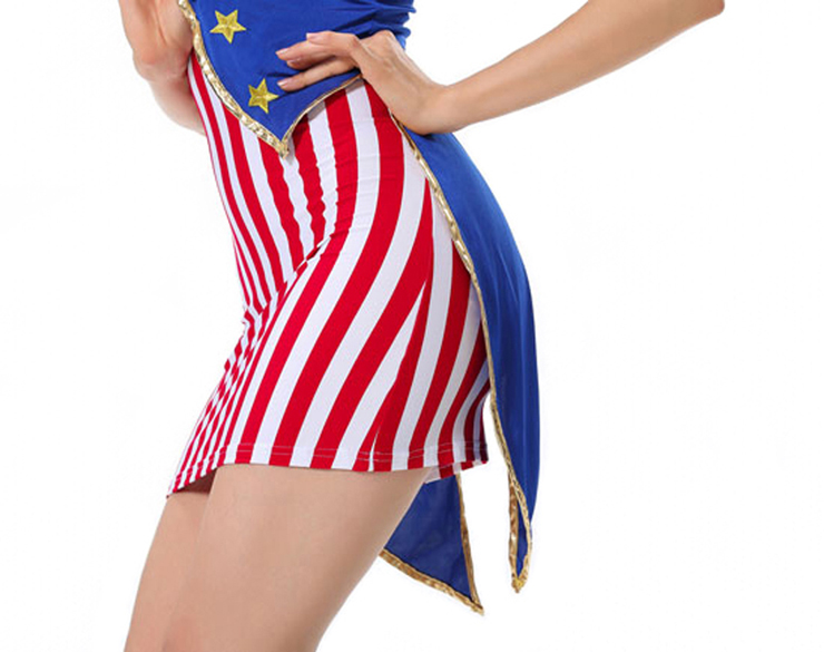 Miss Independence 4th of July Costume, American Flag Costume, Sexy Patriotic American Flag Costume, #N8614