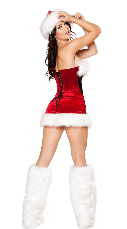 Women S Mistletoe Cutie Mini Dress With Leg Warmers Christmas
