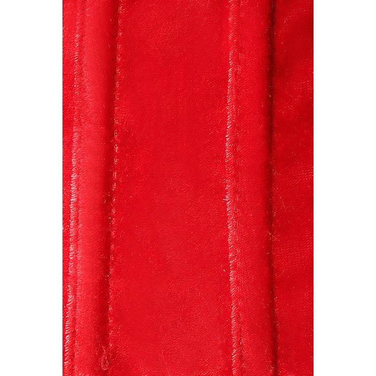 velvet bustier, Sexy Christmas Corset, wholesale Corset, #XT2042